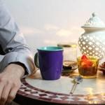 Saxophon-Unterricht Mat Clasen trinkt Tee
