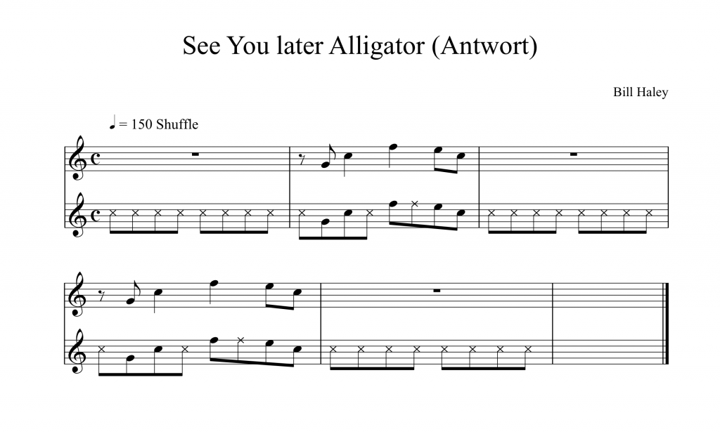 8tel-Raster Übung See You later Alligator Saxworkshop Timing
