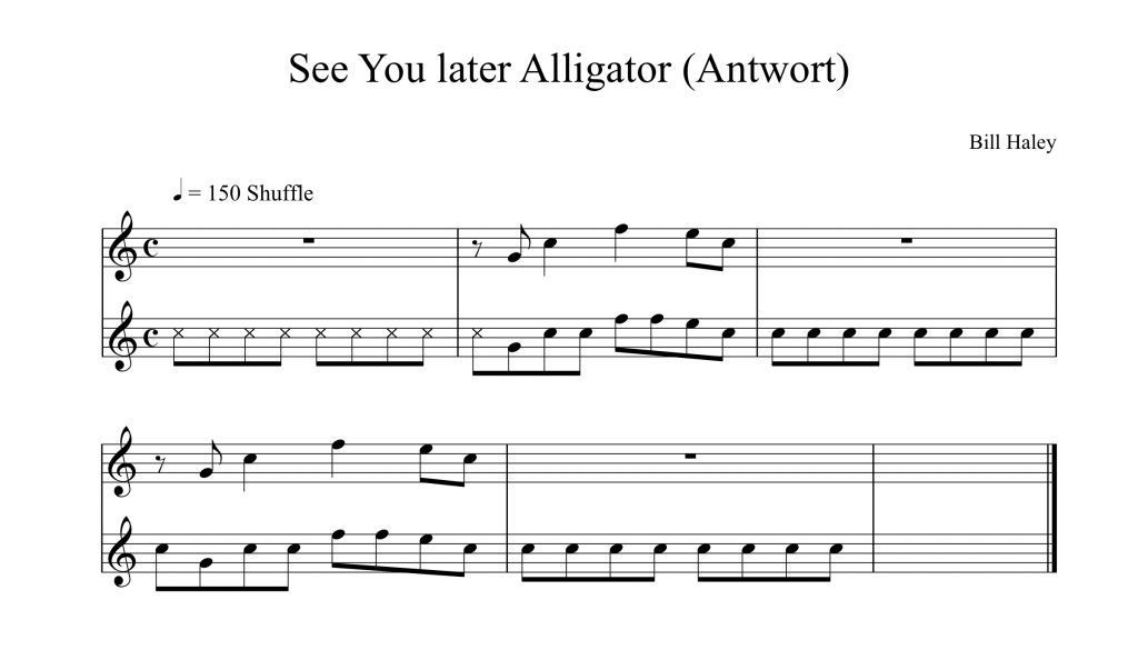 8tel-Raster Übung See You later Alligator