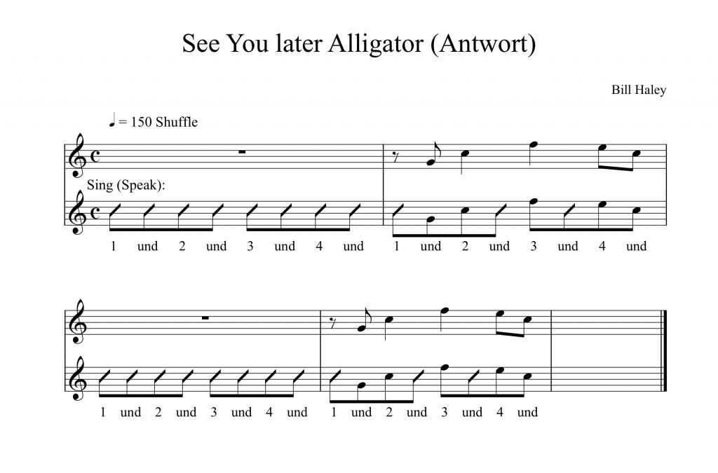 8tel-Raster Übung Zählzeiten singen Saxworkshop Timing
