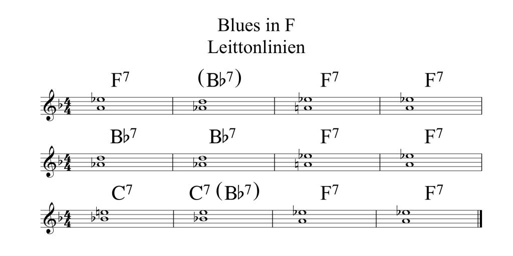Blues in F Leittonlinien