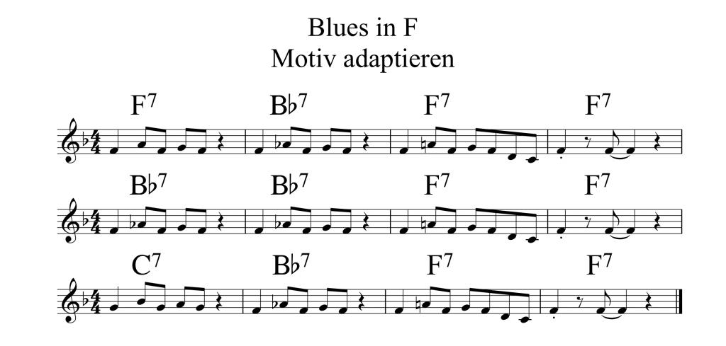 Blues in F Motiv adaptieren